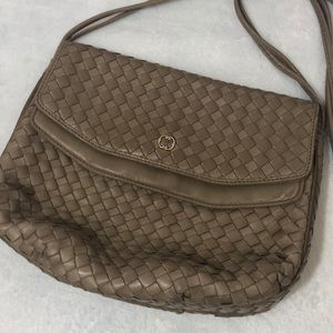Peruzzi of Florence Woven Leather Crossbody Bag